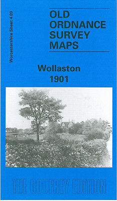 Old Ordnance Survey Map Wollaston 1901 Waterloo Inn Kinver Light Railway