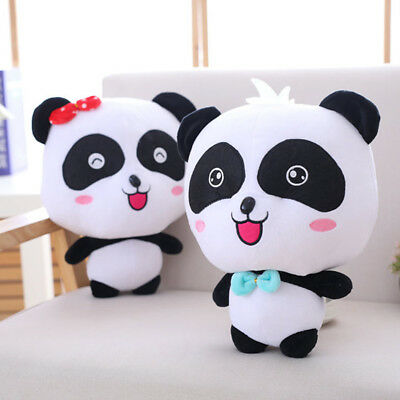 35cm Baby Bus Cute Panda Plush Toy Soft Stuffed Animal Dolls for Kids Xmas Gift
