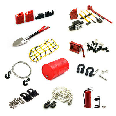 RC 1/10 Car Decoration Accessories Tow Shackle Hook Chain Oil Tank Net Shovel