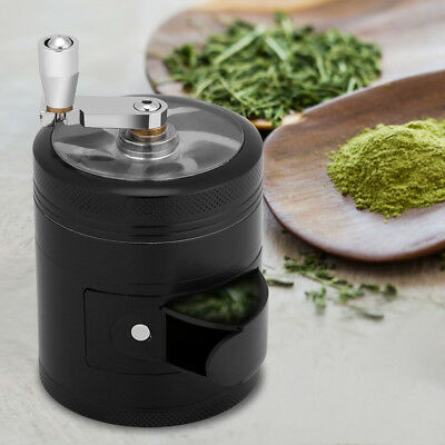 Tobacco Herb Spice Grinder 4 Piece Herbal Zinc Alloy Smoke Crusher Manual
