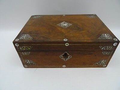Vintage Inlaid Rose Wood? Wooden Jewellery/Document Box
