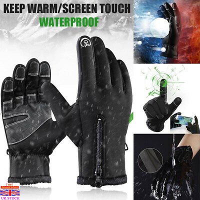 Winter Warm Windproof Waterproof Anti-slip Touch Screen Thermal Gloves Zipper