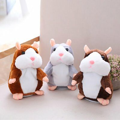 Talking Hamster Cute Nod Mouse Record Chat Mimicry Pet Plush Toy Xmas Gift  TY