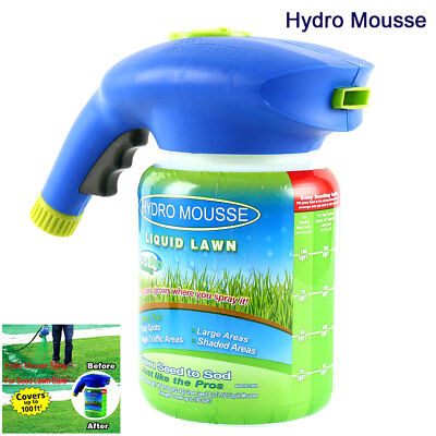 US Hydro Mousse Seeding System Liquid Spray Household Seed Lawn Care Grass Shot