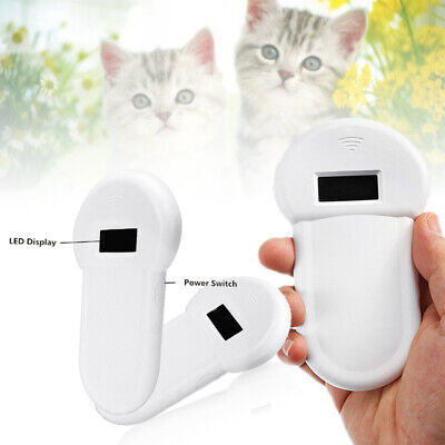 Universal RFID ISO FDX-B Animal Chip Reader Microchip Handheld Pet Scanner White