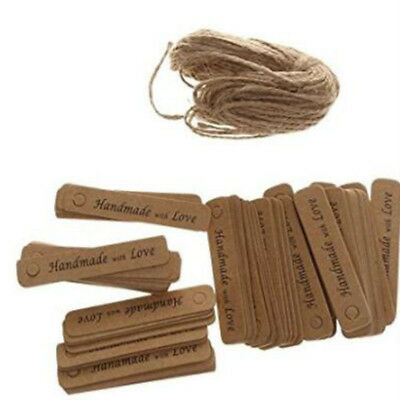 Vintage Craft Brown Paper Hang Tags Wedding Favor Label Gift Cards LH