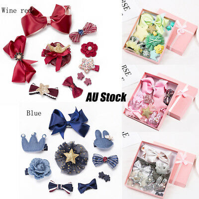 10pcs Kids Hairpin Baby Girl Hair Clips Hair Accessories Butterfly Tie Jewelry