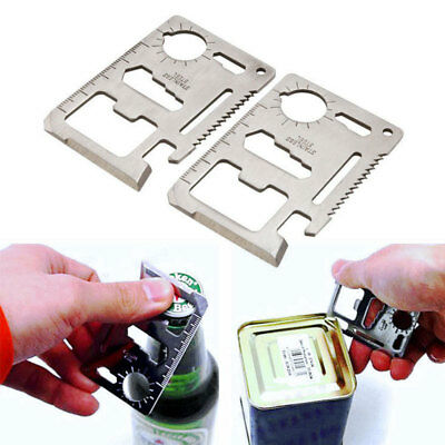 11 in1 Multi Purpose Pocket Credit Card Survival Outdoor Camping Tools EDC