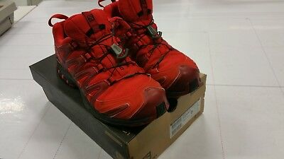 SALOMON XA PRO 3D GTX SCARPA TRAIL RUNNING OUTDOOR IN GORE-TEX ROSSO RED  usate ba56601153