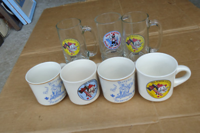 vintage paul bunyan collectibles scout reservation mugs/glasses babe blue ox