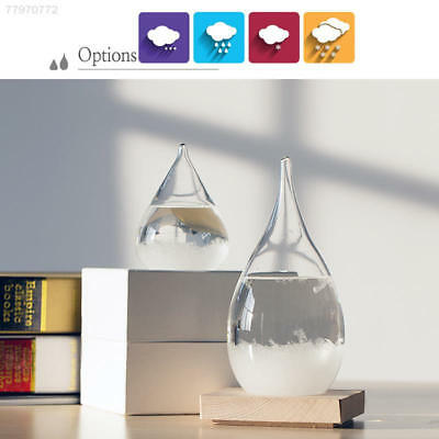 0B3E Tempo Storm Glass Drop Weather Forecast Water Drops Shape Crystal Weather-F