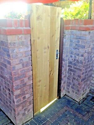 Wooden Garden Side Gate Fully Framed Pressure Treated Made To Measure Flat Top