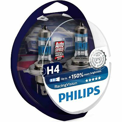 Philips RacingVision H4 12342RVS2 (Twin) 150% more light on the road