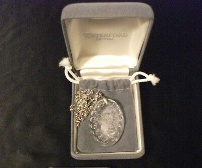 Nib Waterford Crystal Flower Bouquet Pendant Necklace W/ Sterling Chain~Ireland
