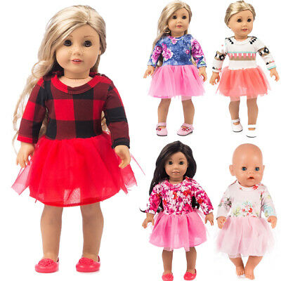 Doll Clothes Dress Outfits Pajames For 18 inch Cute Girl Cartoon Generation Accs