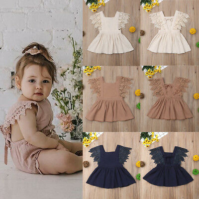 Flower Girl's Kids Toddler Baby Princess Party Pageant Wedding Lace Tutu Dresses