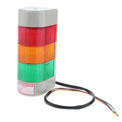 24V Yellow/green/ red Wall Mounted Emergency Warning Security Light w/ Alarm