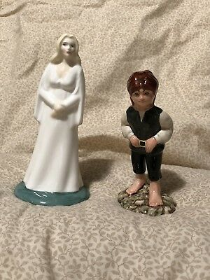"""ROYAL DOULTON """"FRODO"""" And """"Galadriel"""" Lord Of The Rings MIDDLE EARTH"""