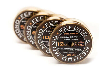 Drennan Feeder & Method 100m Spool Mono fishing Reel Line All Sizes Available