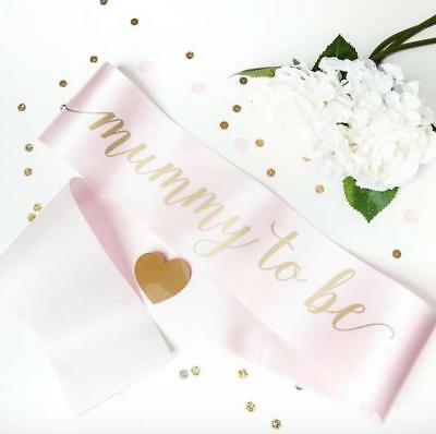Luxury Mummy to Be Babyshower Sash Gift for Mum and Baby Girl Present Pink New