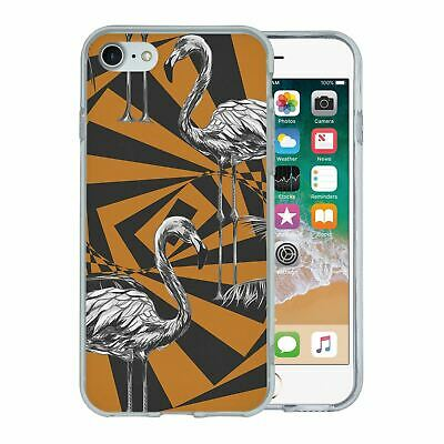 Pour Apple Iphone 7 Étui en Silicone Flamant Rose Tropical Motif - S5635