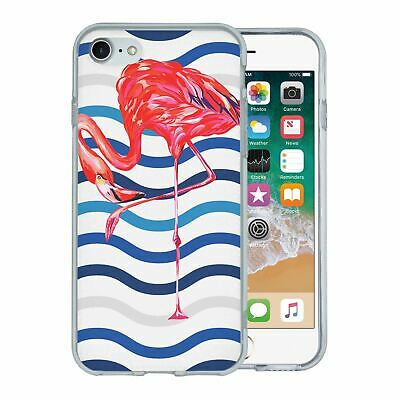 Pour Apple Iphone 7 Étui en Silicone Flamant Rose Tropical Motif - S5636