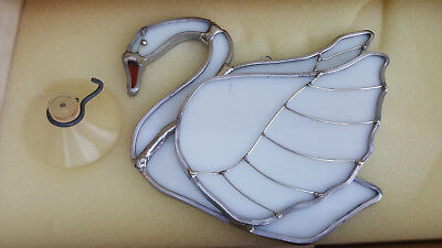 Tiffany Stained Glass Collectors Society White Swan Stem