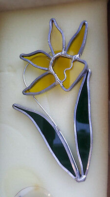 Tiffany Stained Glass Collectors Society Yellow Daffodil Stem