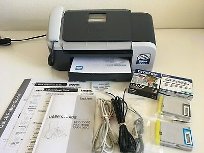 Brother Intellifax 1860C All-in-One Color Fax and Printer Bundle 1916 Pages
