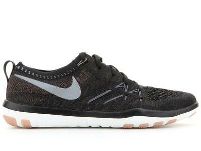 d7be457cd0ef0c Womens Nike Free TR Focus Flyknit Black Training Trainers 844817 002