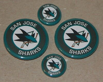 4 San Jose Sharks Magnets- Makes a Great Gift!