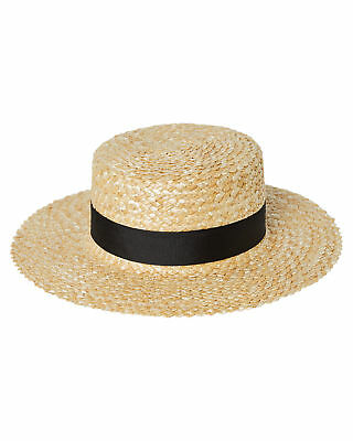 New Lack Of Color Women's Rico Straw Boater Natural