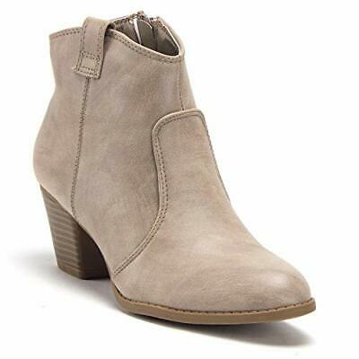 628da6467c4ac Womens Western Ankle High Cowboy Booties Short Cowgirl Dress Boots, Grey,  Taupe