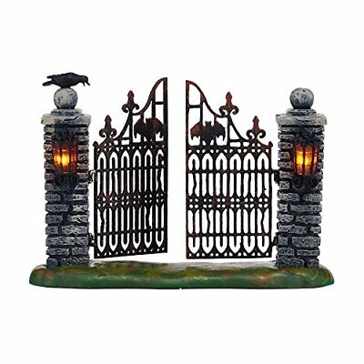 Department 56 Halloween Village Spooky Wrought Iron Gate Accessory Figurine, ...