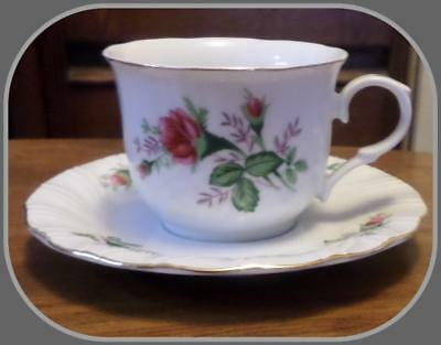 Lynns Fine China Victorian Rose Demitasse Cup and Saucer