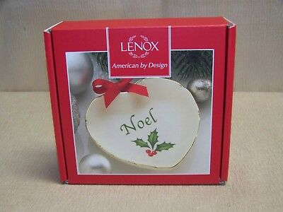 Lenox Holiday Sentiment 4 Inch Noel Heart Dish New In Box