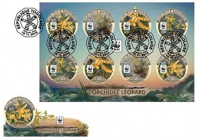 Z08 TG16423c _ FDC Imperf Togo 2016 Wwf – Orchids ( FDC Imperf MNH