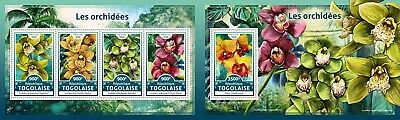 Z08 Imperforated TG16613ab Togo 2016 Orchids MNH Mint Set