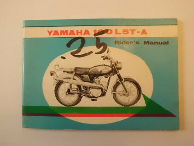 Yamaha 100 L5T-A Riders Manual Owners Book