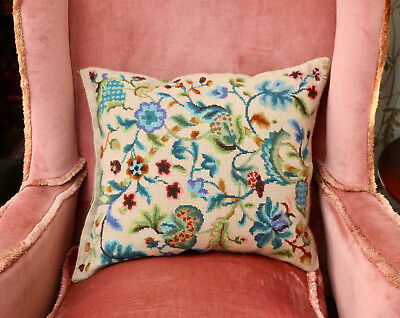 Beautiful Country House Tapestry Feather Cushion, Jacobean Tree