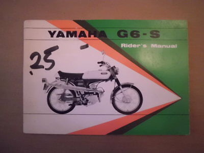 Yamaha G6-S 80 Riders Manual Owners Book