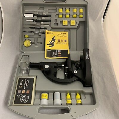 National Geographic 100 x 1200 x Diecast Microscope Set With Hard Carry Case 8+