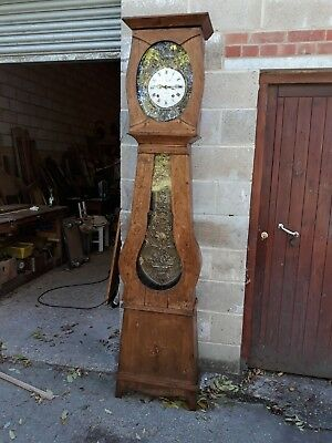 French Grandfather Longcase Clock, Comtoise. with date hand