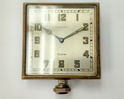 Antique Vintage Tiffany & Company Elgin 8 Day Travel Automobile Car Clock