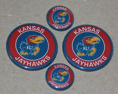 4 Kansas Jayhawks Magnets- Makes a Great Gift!