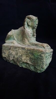 ANCIENT EGYPTIAN Antique SPHINX Pharaohs Pyramids Giza Royal Statue 2605-2579 BC