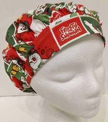 Christmas Frosty X-Small Surgical Medical Bouffant Scrub Cap Surgery Hat