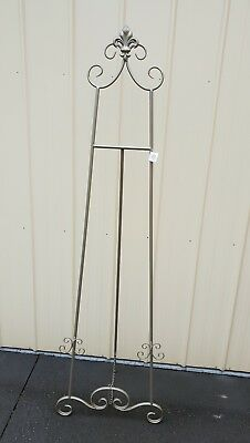 Antique Silver or BLACK wedding picture Easel photo stand 170cmH