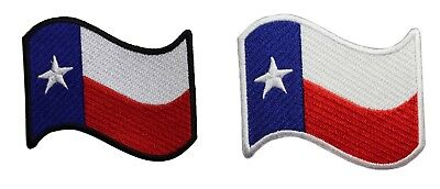 TEXAS STATE FLAG PATCH Tactical EMBROIDERED IRON-ON LONE STAR TX White Border #3