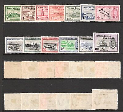Turks & Caicos Islands 1950 Kgvi Set (Sg 221-233) (Hm)